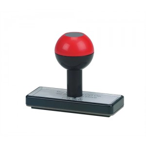 5 Star Low Cost Rubber Stamp Custom W75xH25mm [6 lines]