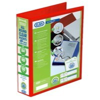 Elba Presentation Ring Binder PVC 4 D-Ring 50mm Capacity A4 Red Ref 400008432 [Pack 4]