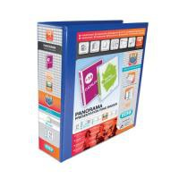Elba Presentation Ring Binder PVC 4 D-Ring 65mm Capacity A4 Blue Ref 400008675 [Pack 4]
