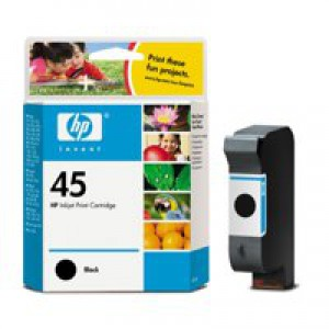 HP No.45A Inkjet Cartridge 42ml Black Code 51645AE