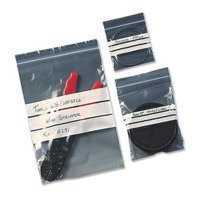 Polythene Bags Resealable Grip Seal Write On 90x114mm [Pack 1000]