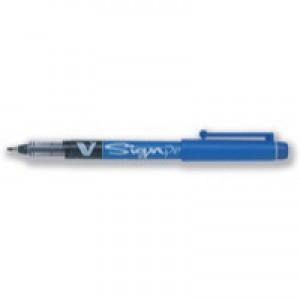 Pilot Sign Pen Liquid Ink Soft Medium 2.0mm Tip 0.6mm Line Black Code SWVSP01