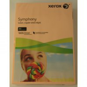 Xerox Symphony Paper A4 80gsm Pastel Tints Salmon Ream 003R93962