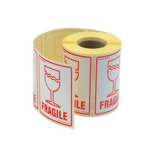 Adpac Parcel Labels Fragile 108x79mm on Roll Diameter 210mm Ref SG108FR [500 Labels]