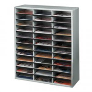 Fellowes Literature Sorter Melamine-laminated Shell 36 Compartments W737xD302xH881mm Ref 25061