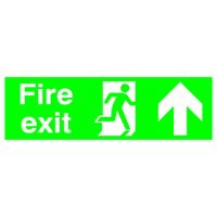 Niteglo Fire Exit/Arrow Up Sign PSPA-certified Polypropylene W450xH150mm Ref FX04711M