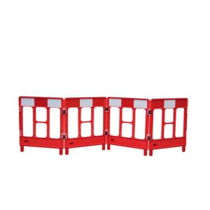 Workgate 4 Gate Barrier Lightweight Linking-clip Reflective Panel Red Ref KBC023-000-600