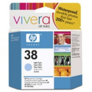 Hewlett Packard No38 Pigment Inkjet Cartridge Light Cyan C9418A