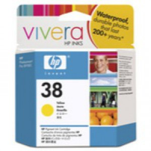 Hewlett Packard No38 Pigment Inkjet Cartridge Yellow C9417A