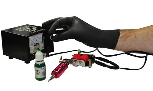 Polyco BG Nitrile Gloves Abrasion-resistance Rolled-cuff Large Black Code GL8973
