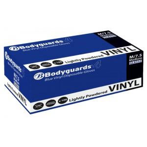 Polyco Blue Grip Vinyl Gloves Large Blue Ref GL8333 [Pack 100]