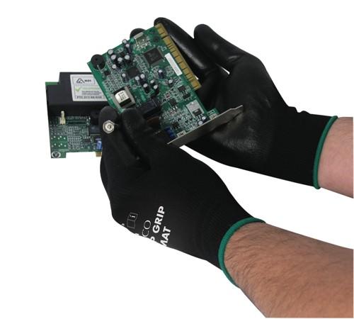 Polyco Matrix P Grip Gloves Polyurethane Tight-fit Size 8 Black Ref 402-MAT [12 Pairs]