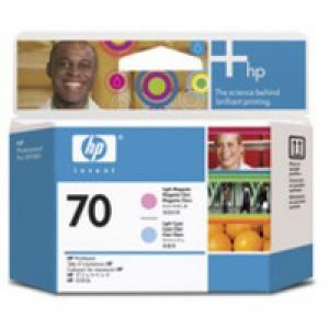 Hewlett Packard No70 Print Head Light Cyan Light Magenta C9405A