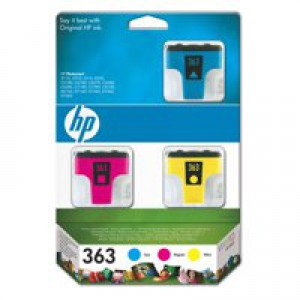 HP No.363 Inkjet Cartridges Cyan/Magenta/Yellow Pack 3 Code CB333EE
