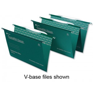 Rexel Crystalfile Classic Suspension File and Tab Square Base for 300pp Foolscap Ref 3000032 [Pack 50]