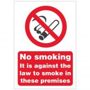Stewart Superior Sign No Smoking A5 Self-adhesive Vinyl Code SB003