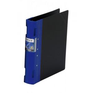 Guildhall GLX Ergogrip Binder Polypropylene 8 Prong/4 Ring 55mm A4 Blue Code 4532