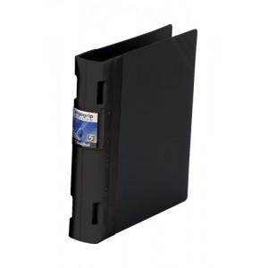 Guildhall GLX Ergogrip Binder Capacity 400 Sheets 4x 2 Prong 55mm A4 Black Ref 4537Z [Pack 2]