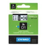 Dymo D1 Tape for Electronic Labelmakers 19mmx7m Black on White Code S0720830