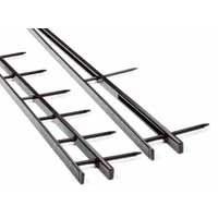 GBC SureBind Secure Binding Strips 25mm 10 Prongs Bind 250 Sheets A4 Black Ref 1132850 [Pack 100]