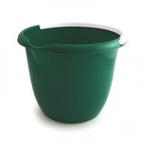 Plastic Bucket with Metal Handle and Pouring Lip 10 Litre Capacity Green Ref SPC/BUCKET/G