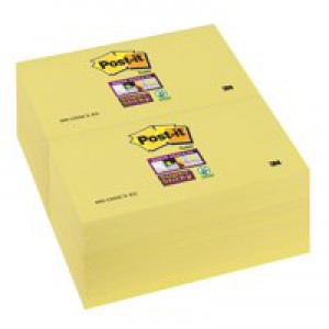 Post-It SuperSticky Canary Yellow 3x5in Code 655-12SSCY