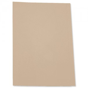 5 Star Square Cut Folder Recycled Pre-punched 250gsm A4 Buff [Pack 100]