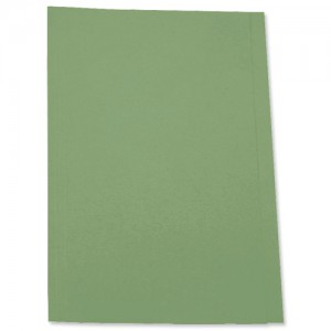 5 Star Square Cut Folder Recycled Pre-punched 250gsm A4 Green [Pack 100]
