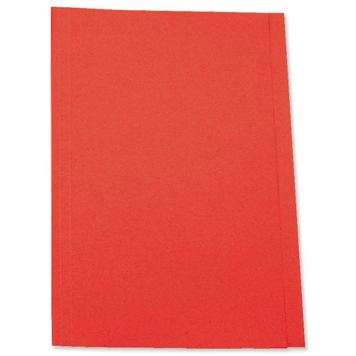 5 Star Square Cut Folder Recycled Pre-punched 250gsm A4 Red [Pack 100]