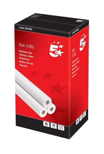 5 Star Fax Roll 210mmx15Mx12.7mm