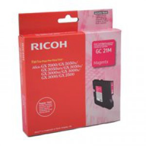 Ricoh GC21M Gel Cartridge Page Life 1000pp Magenta Ref 405534