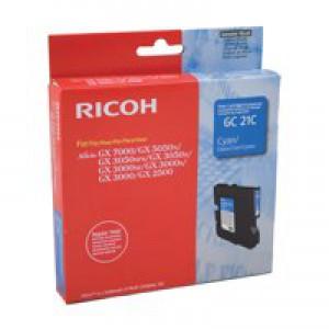 Ricoh GC21C Gel Cartridge Page Life 1000pp Cyan Ref 405533