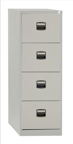 Trexus 4 Drawer Filing Cabinet Grey