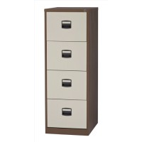Image for Trexus Filing Cabinet Steel Lockable 4 Drawer W470xD622xH1321mm Coffee/Cream
