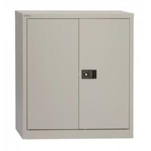 Trexus Storage Cupboard Steel 2-Door W914xD400xH1000mm Grey