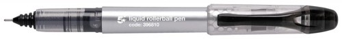 5 Star Rollerball Pen Liquid Ink 0.7mm Tip 0.5mm Line Black [Pack 12]