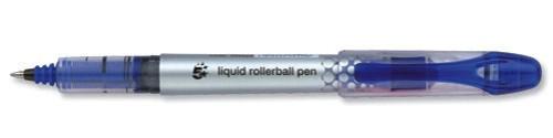 5 Star Rollerball Pen Liquid Ink 0.7mm Tip 0.5mm Line Blue [Pack 12]
