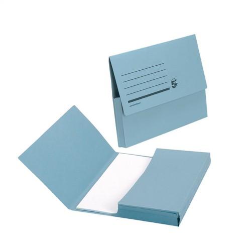 5 Star Document Wallet Fcap 285gsm Blue