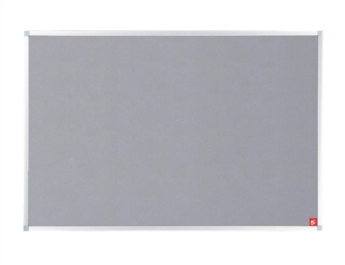 5 Star Noticeboard with Fixings and Aluminium Trim W1200xH900mm Grey