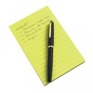 3M Post-it Note Pad 102x152mm Ruled Feint Yellow 660