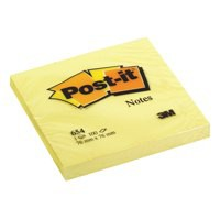 3M Post-it Note Recycled 76x76mm Yellow 654-1Y