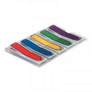 Post-it Index Arrows in portable pack W12xH43mm Standard Colours Assorted Ref 684ARR1 [Pack 100]