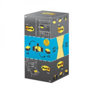 Post-it Note Value Display Pack Dispenser with Pads 76x76mm Yellow Ref 654-Y16VP [Pack 16]