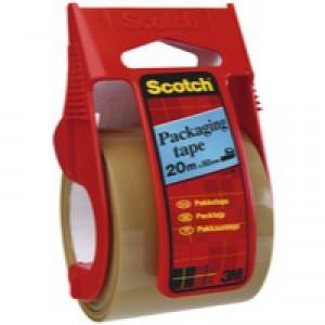 3M Scotch Packaging Tape Easy Start Dispenser 50mm x20 Metres Clear E.5020D
