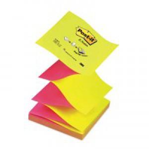 3M Post-it Z-Note 76x76mm Neon Pink and Yellow R330N