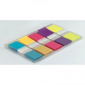 Post-it Index Small in Portable pack W12xH43mm Bright Colours Ref 683-5Cb [Pack 100]