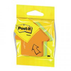 Post-it Arrow Shaped Notes Pad of 225 Sheets Neon Orange and Green Ref 2007A