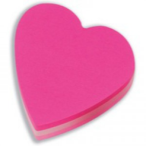 Post-it Heart Shaped Notes Pad of 225 Sheets Pink Tones Ref 2007H