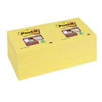 Post-it Super Sticky Note Canary Yellow 76x76mm 654-12SSCY