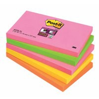 3M Post-it Super Sticky Note 76x127mm Cape Town Pk 5 655-SN